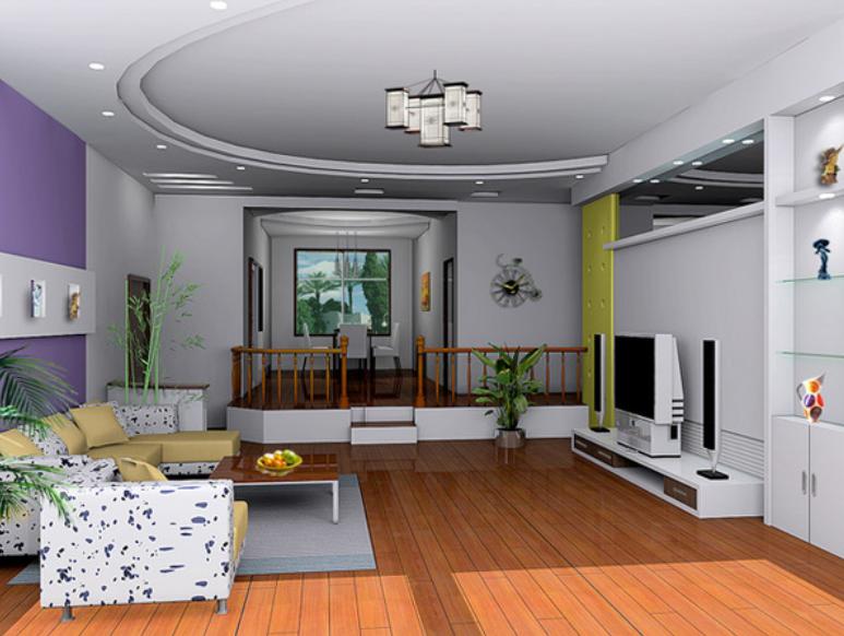 客厅电视墙设计效果图欣赏