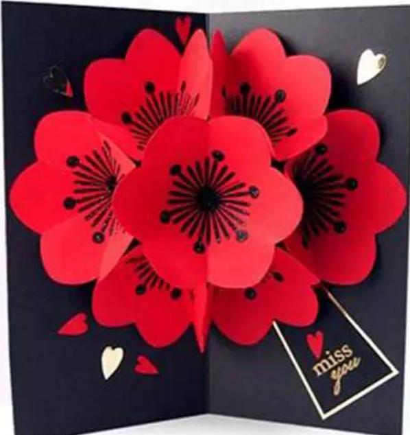 蝴蝶花立体手工贺卡制作方法