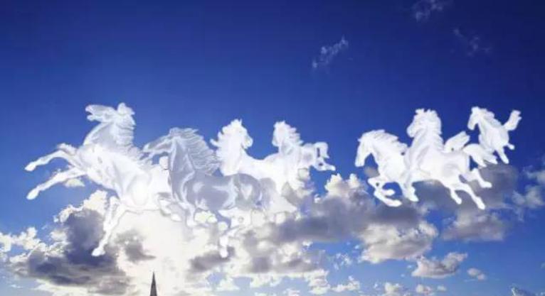 PS图片处理出水晶白马云