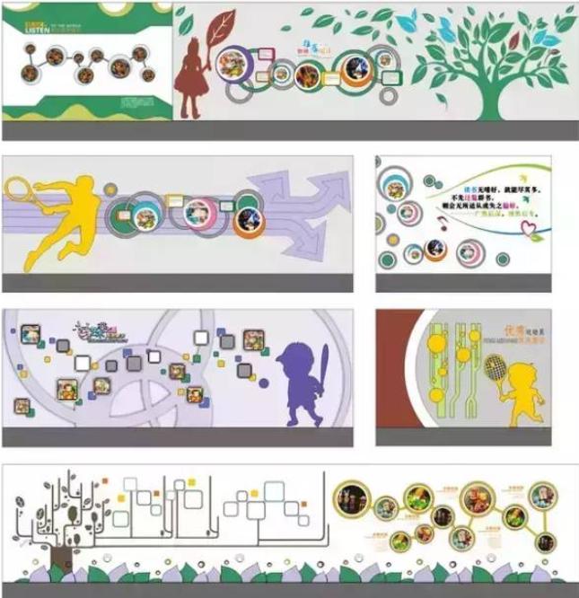 幼儿园学校文化墙设计系列欣赏