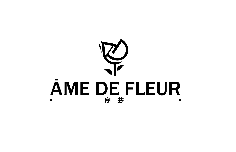 花店logo,大气简单!利用字母设计成花的形状!