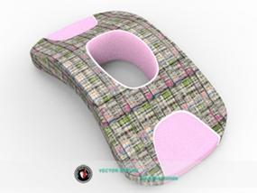 靠枕的简单外观效果设计