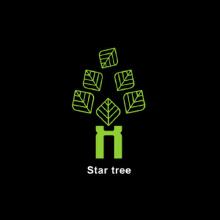 威客服务:[72133] 树 几何 叶子 字母H logo