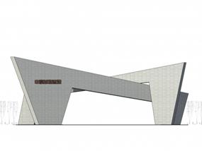 中澳城物流有限公司形象大门设计