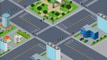 交通信号控制系统FLASH动画