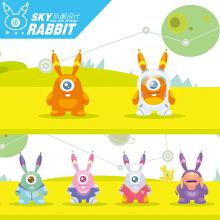 【卡通形象设计】/星际兔/ 扁平时尚风