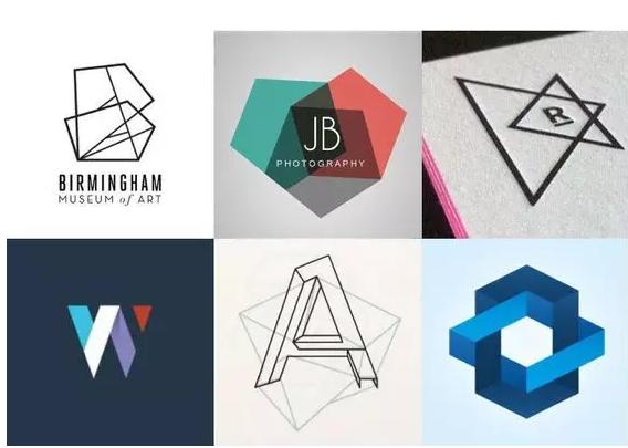 几何形状很长时间被用于web设计中,直到后来才用于logo设计,经典