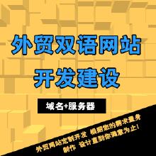 定制开发建设运营外贸企业网站(中、英文双语)