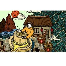 【优行创意设计】农产品插画漫画设计 包装插画设计 提高品牌辨识度 树立品牌形象 传播品牌故事