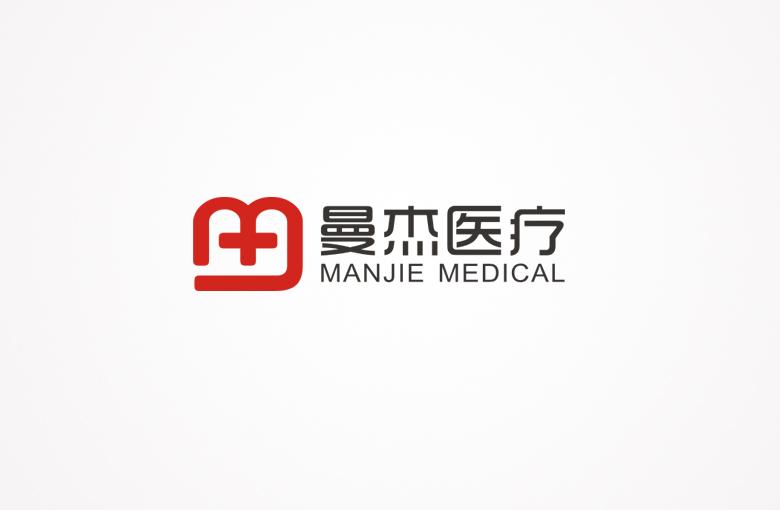 曼杰(mj)医疗logo设计