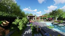 庭院景观设计 别墅庭院  私人订制