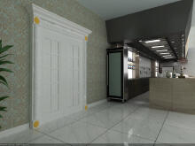 威客服务:[89488] 酒店开放式厨房设计方案