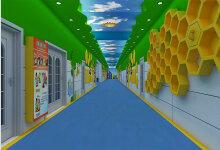 高新一小地球村走廊
