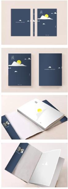 中式现代简约风格的海报设计