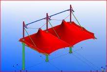 西安48中主席台膜结构  (西安 2015年