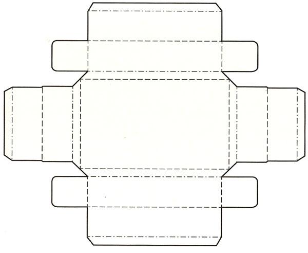 盘式别插组装带底结构盒展开图