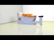 工业动画演示 节能洗头床安装方法