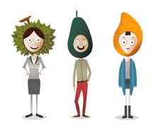 【 新鲜人】水果卡通人物设计