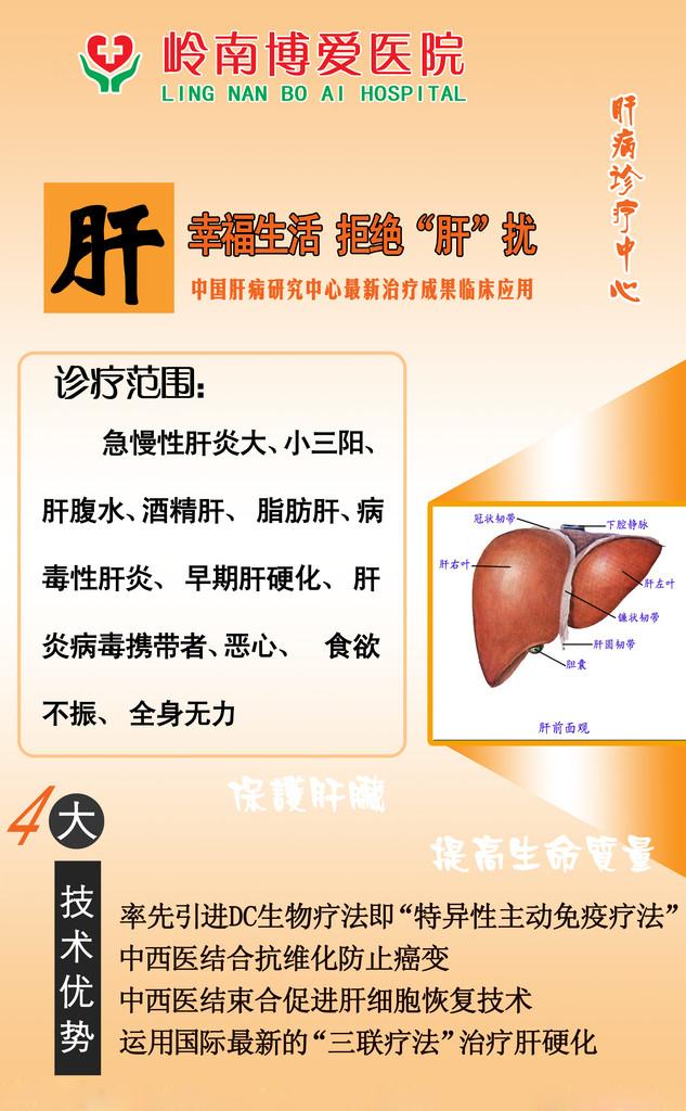 肝脏疾病医疗广告设计欣赏