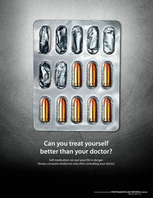 医疗广告鉴赏:药物很危险,请不要自己自行配药或者服务用药物!