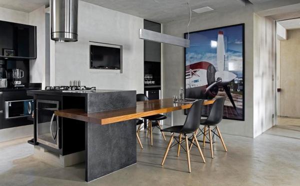 LOFT户型房单身公寓室内设计欣赏