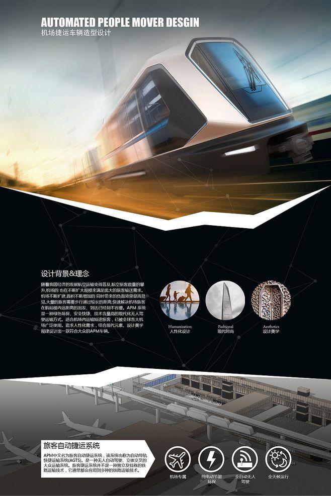 机场捷运工业设计展板
