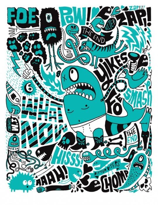 多种风格艺术字体设计案例