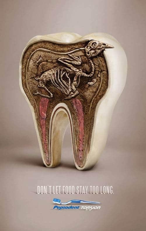 有关牙齿健康医疗广告平面设计图片欣赏