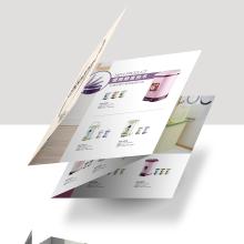垃圾桶产品四折页设计