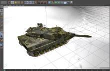三维坦克模型