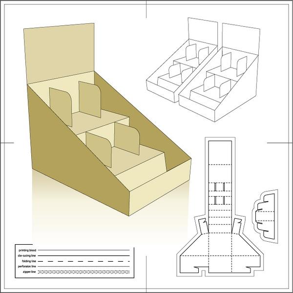 造型独特的包装盒设计展开图图片