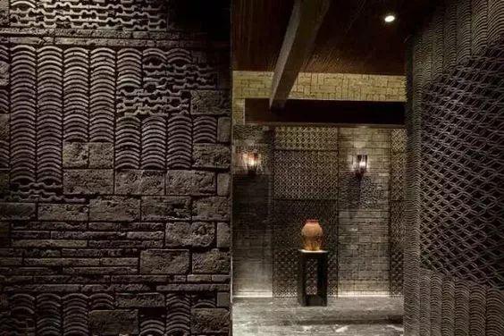 金属瓦楞板风格的门面设计欣赏