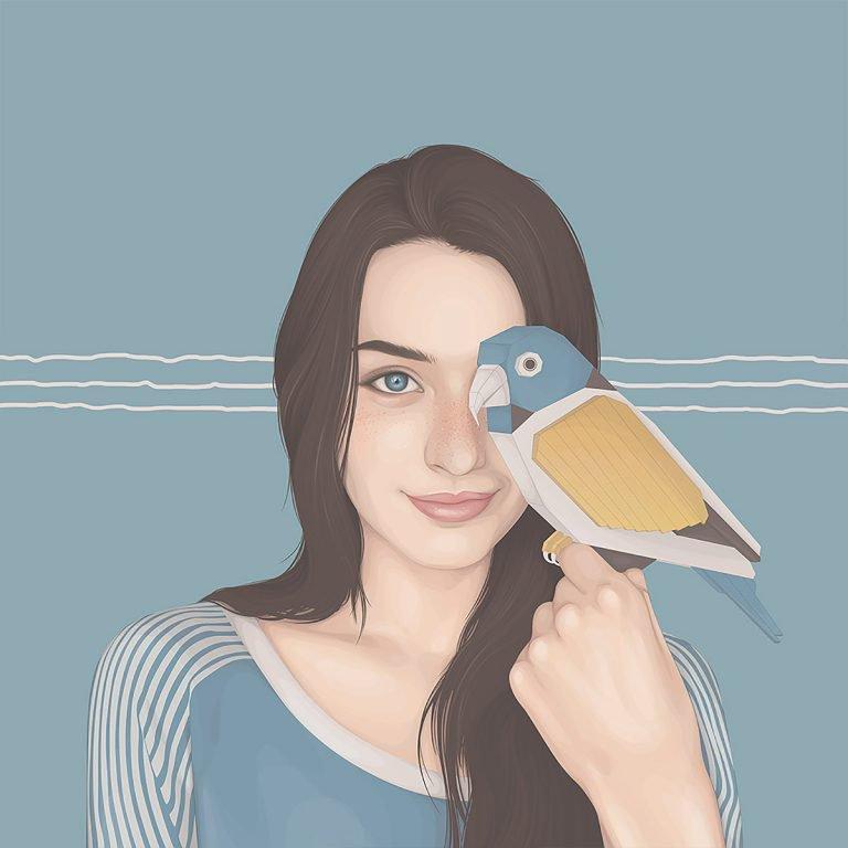 Yuschav Arly女性人物插画设计欣赏