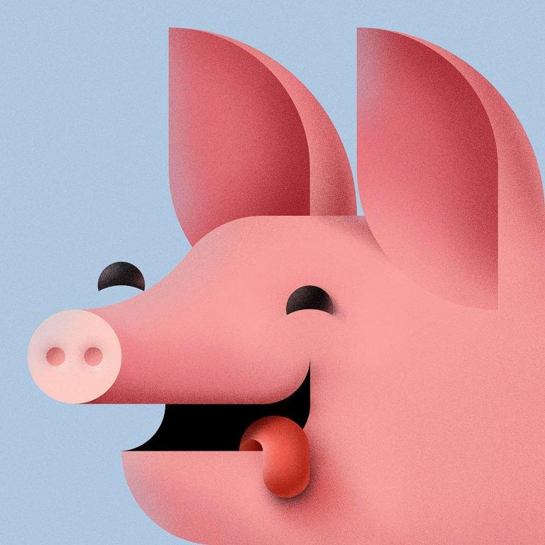 Braca Burazeri可爱动物插画设计