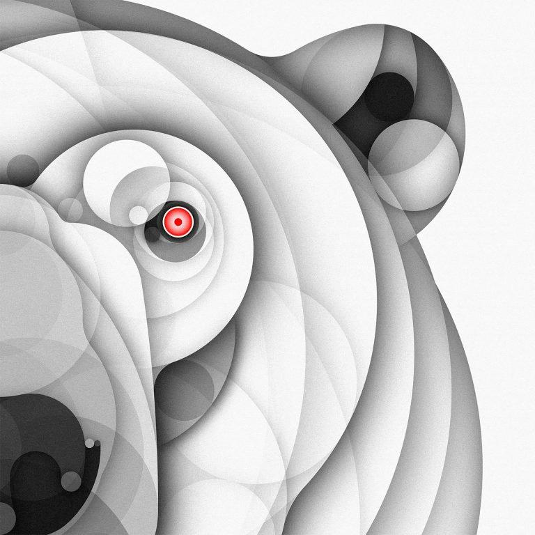 Bruno Silva创意几何动物插画设计作品