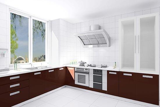 几款现代风格的酒店厨房装修效果图