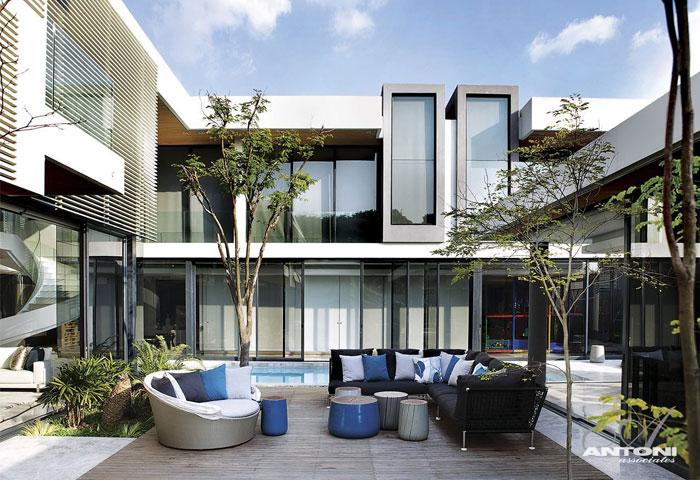 U型现代豪华别墅设计