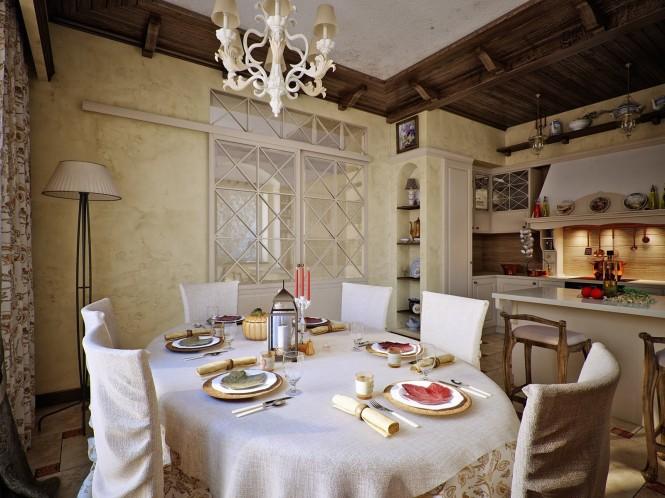 国外酒店总统套房厨房装修设计效果图