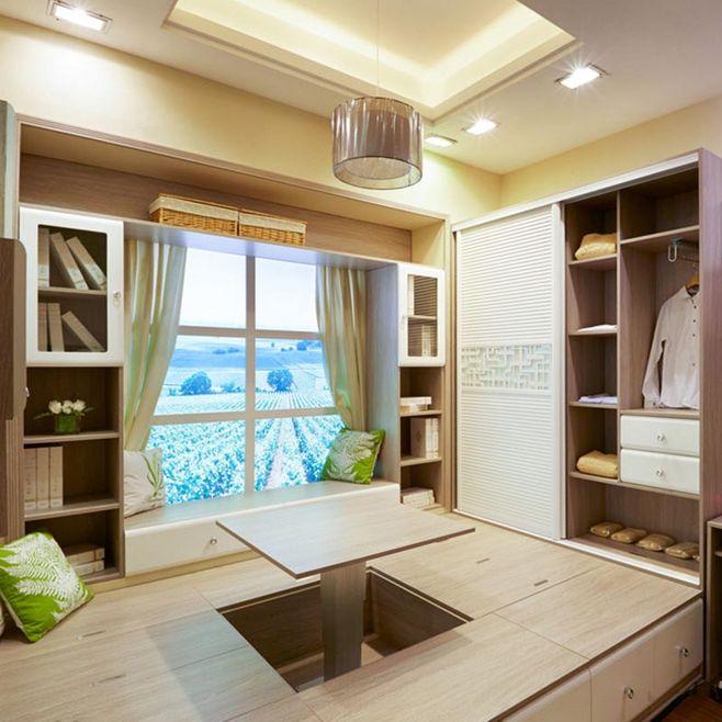 日式风格木床定制升降台榻榻米地台