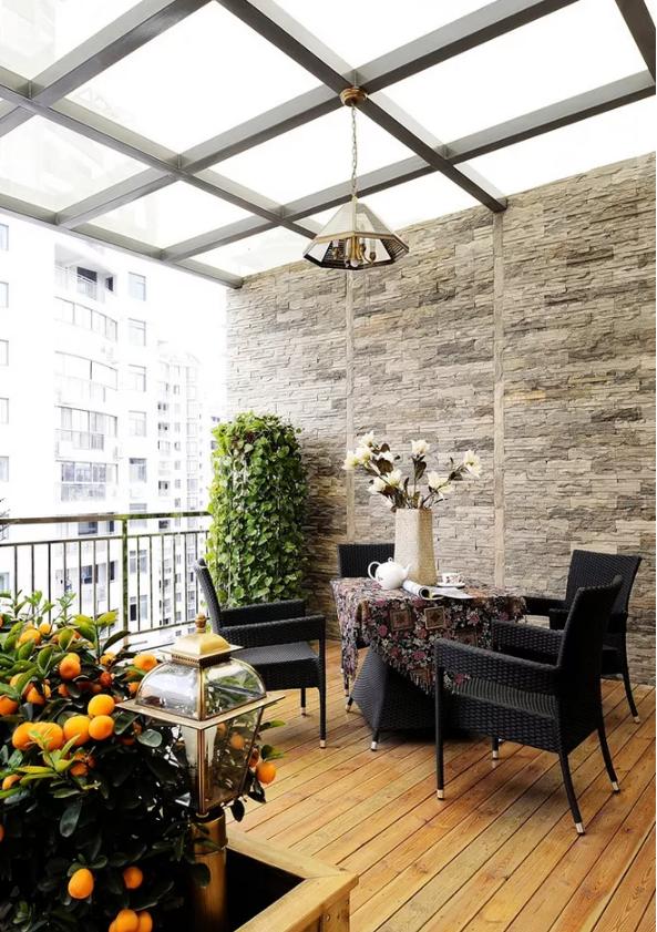 室内阳台吊顶装修效果图
