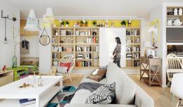 65平一居室小户型装修设计效果图欣赏