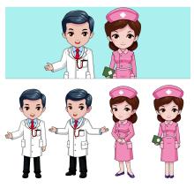机器人显示屏医生护士形象