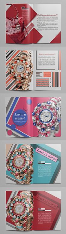 高档包及钻石产品画册排版