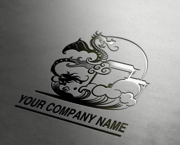 龙形风格的印章logo设计欣赏