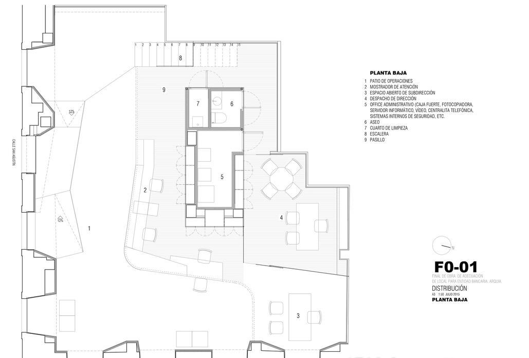 一张简单的办公楼平面图设计欣赏