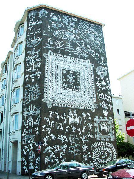 超好看的酒店外墙手绘墙绘画欣赏