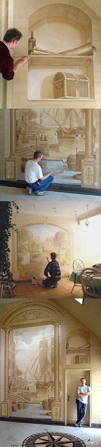 国外3d手绘墙欣赏