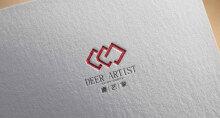 鹿艺家logo设计