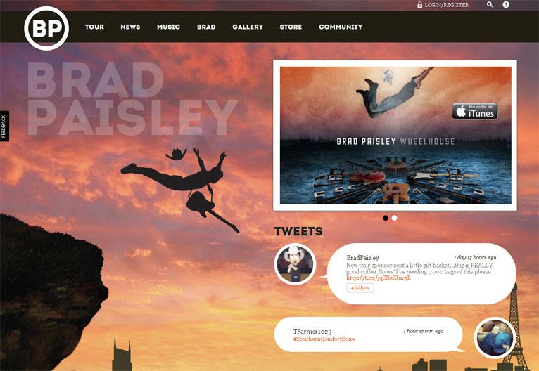 集聚创意的国外音乐网站设计分享图片