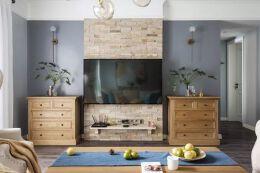 现代美式,独特造型的电视墙,越看越漂亮!